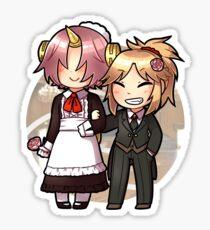 [FGOctober] 21- Fran and Mordred Sticker