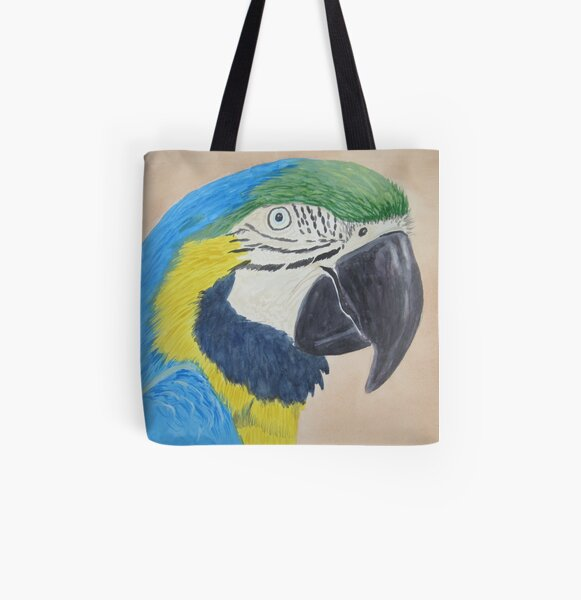 Macaw All Over Print Tote Bag
