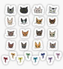 Cute Cats Stickers Sticker