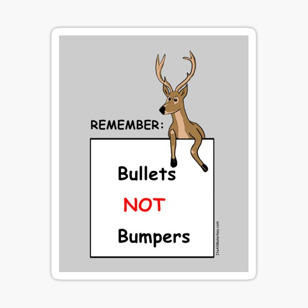 Bullets Not Bumpers Sticker