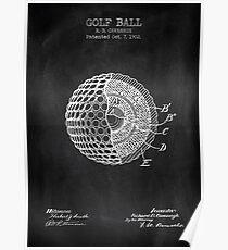 GOLF BALL chalkboard Poster