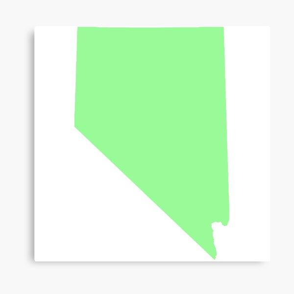 Light Green Nevada Canvas Print
