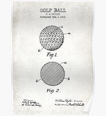 GOLF BALL patent  Poster
