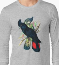 Australian Banksian Black Cockatoo Long Sleeve T-Shirt