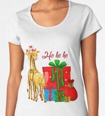 Christmas Giraffes Ho Ho Ho   Women's Premium T-Shirt
