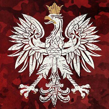 Poland Vintage Coat of Arms V01 by Lidra
