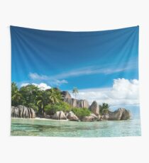 a colourful Seychelles landscape Wall Tapestry