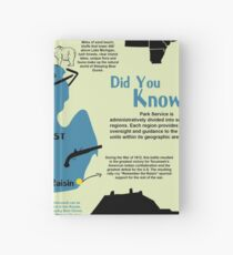 Michigan National Parks Infographic Map  Hardcover Journal