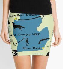 Michigan National Parks Infographic Map  Mini Skirt