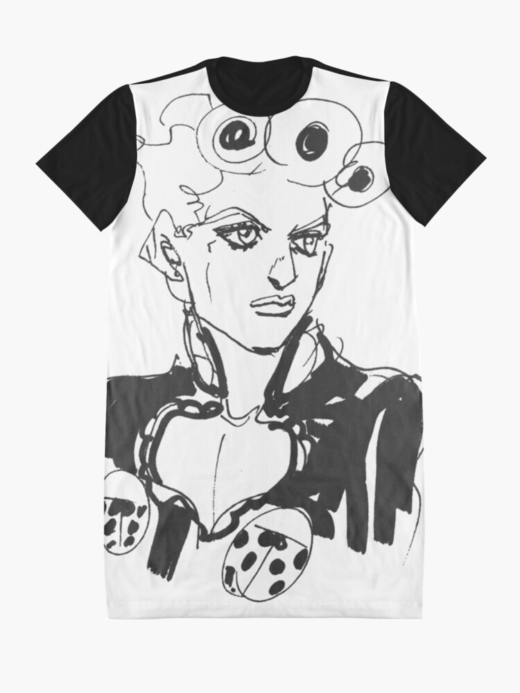 Alternate view of Giorno Golden Wind - JoJo's Bizarre Adventure  Graphic T-Shirt Dress