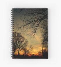 A Sunset Dark And Ominous Spiral Notebook