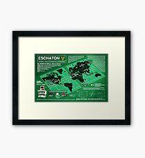 Eschaton Diagram - Infinite Jest Framed Print