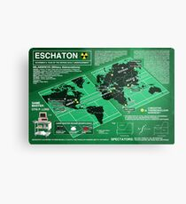 Eschaton Diagram - Infinite Jest Metal Print