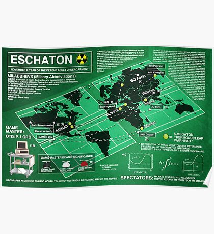 Eschaton Diagram - Infinite Jest Poster