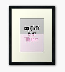 Creativity is my therapy Framed Print