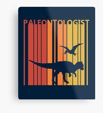 Vintage Retro 1980s Paleontologist Gift Metal Print
