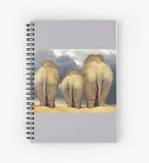 Traveling Elephant Family  Spiral Notebook