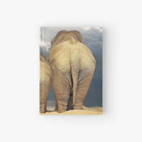 Traveling Elephant Family  Hardcover Journal