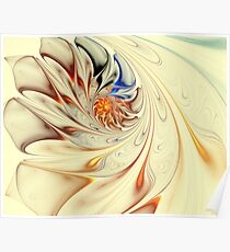 Flower-Abstract-Light Poster