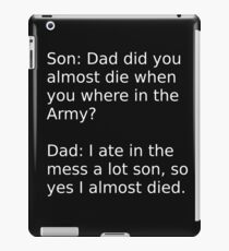 father and son 2 iPad Case/Skin