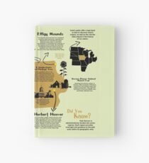 Iowa National Parks Infographic Map Hardcover Journal