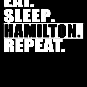 Alexander Hamilton Revolution Eat Sleep Hamilton Repeat by cnkna