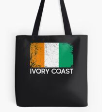 Ivorian Flag Design | Vintage Made In Ivory Coast Gift Tote Bag