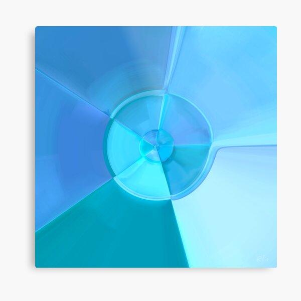 Blue Discus Metal Print