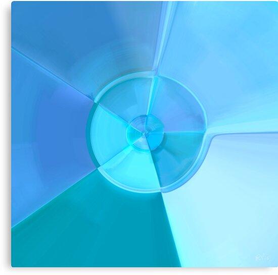 Blue Discus by RVig Generative Art