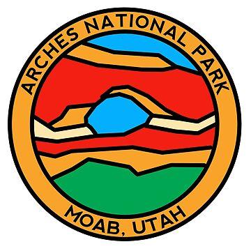 North Window Arch Design - Arches National Park by strayfoto