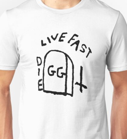 GG Allin Live Fast Die Tattoo (big version) Unisex T-Shirt