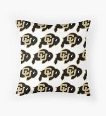 CU Buffs Pattern Throw Pillow