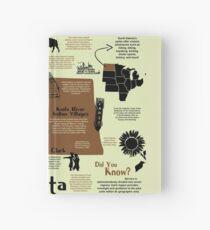 North Dakota National Parks Infographic Map Hardcover Journal