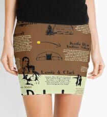 North Dakota National Parks Infographic Map Mini Skirt