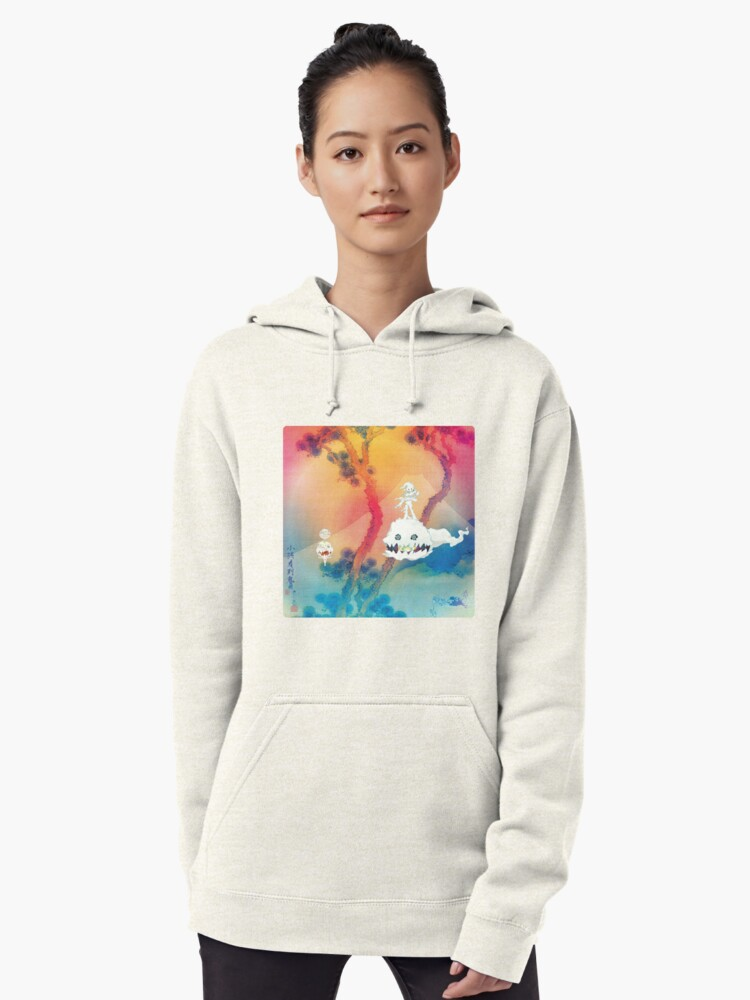 Kids See Ghosts Ultra High Res Pullover Hoodie By Designdaily