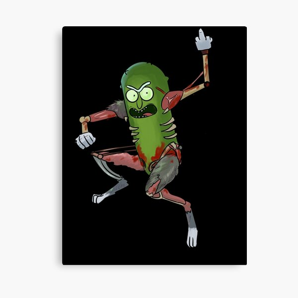 Pickle Rick Canvas Print