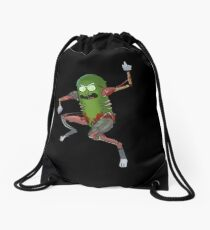 Pickle Rick Drawstring Bag