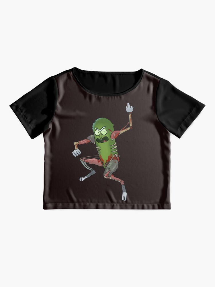 Alternate view of Pickle Rick Chiffon Top