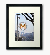 """""""Arc de Triomphe"""" views from Paris, La Défense Framed Print"""