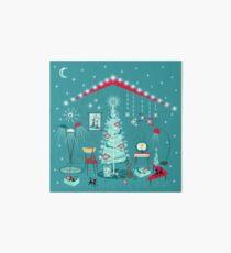Retro Holiday Decorating II Art Board
