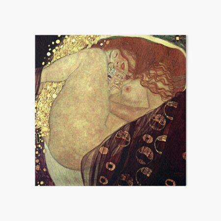DANAE by Gustav Klimt Art Board Print
