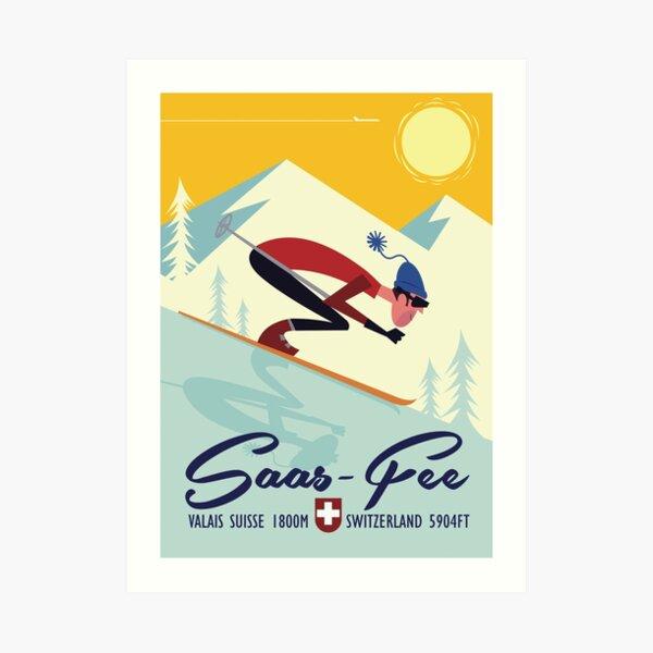Saas Fee poster Art Print