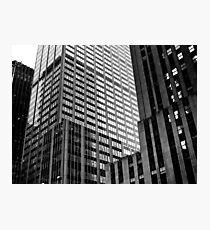 b&w skyscraper Photographic Print
