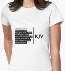 The Jeremiah 29:11 Scripture 2.0 range  Women's Fitted T-Shirt