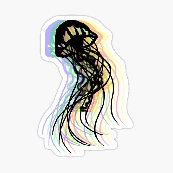 Psychedelic Jellyfish Sticker