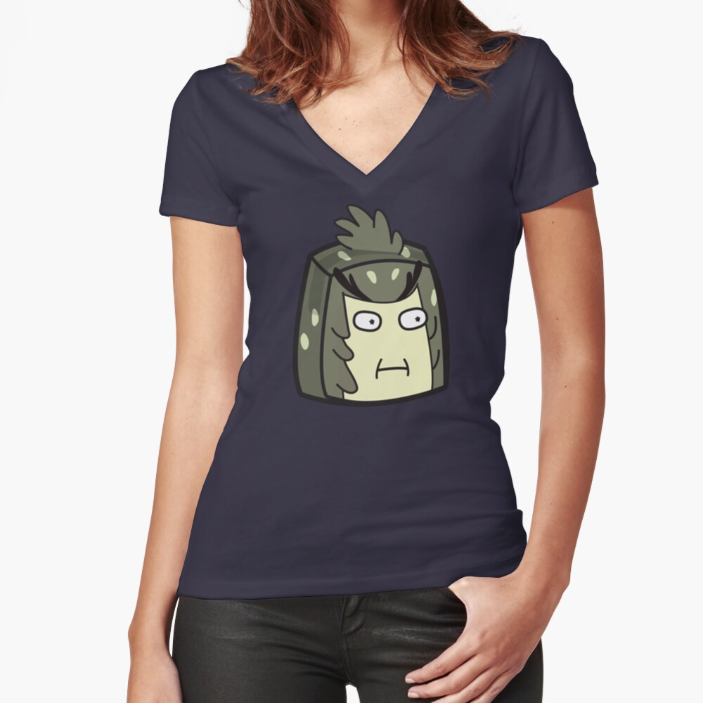 Bird Person - Rick and Morty Boxheadz Dimension Fitted V-Neck T-Shirt