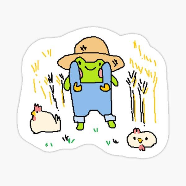 Farmer Frog! Sticker