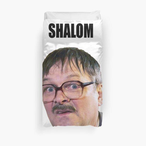 Friday Night Dinner Shalom Duvet Cover
