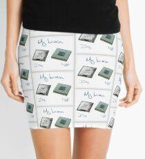 New chip old chip brain  Mini Skirt