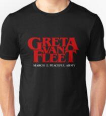 greta peaceful army van fleet tour 2019 logo pertelon Unisex T-Shirt